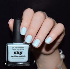 piCture pOlish = Anastasiia aka @thenailunique wearing 'Sky' ❤️❤️thank you :) Formulation: 5 free pastel creme www.picturepolish.com.au