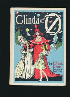 vintage softcover, Glinda of Oz by L. Frank Baum, Neill illustrations, 1960's by mudintheUSA on Etsy #epsteam