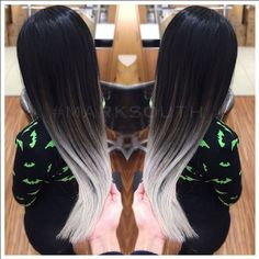Mark South, Stylist at Regis Salon Albuquerque, NM, recently created this striking, ghostly silver ombré for his client.