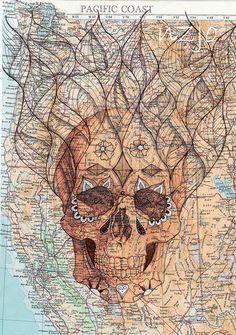 Día de los Muertos mapped skull | Flickr - Photo Sharing!