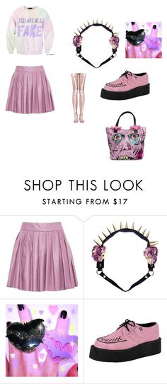 """Pastel Goth"" by srabniky ❤ liked on Polyvore featuring Alice + Olivia, Bitching & Junkfood and T.U.K."