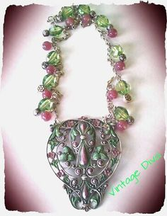 Green/Pink Victoria Necklace