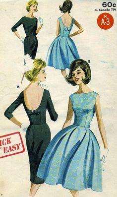 Vintage Butterick 2733 UNCUT Misses Full or Slim by RomasMaison, $24.00
