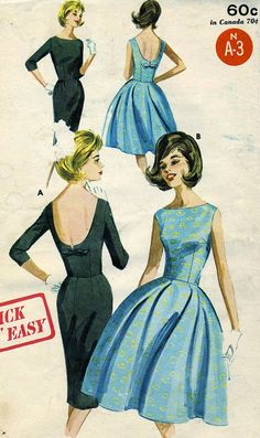 Vintage Butterick 2733 UNCUT Misses Full or Slim by RomasMaison, $24.00