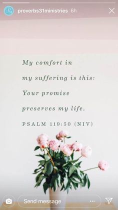 Psalm // encouraging bible verse for hard times Bible Verses Quotes, Bible Scriptures, Faith Quotes, Bible Verses About Healing, Scripture Images, Christian Life, Christian Quotes, Psalm 119 50, Favorite Bible Verses