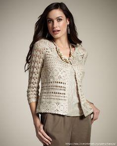 Winnie Crochet Cardigan no pattern Gilet Crochet, Crochet Coat, Crochet Cardigan Pattern, Crochet Jacket, Crochet Blouse, Crochet Clothes, Crochet Fashion, Top Pattern, Ideias Fashion