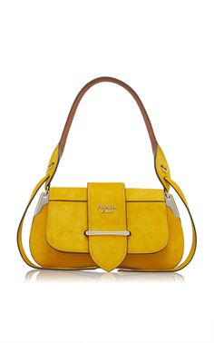 Suede Top Handle Bag by PRADA for Preorder on Moda Operandi