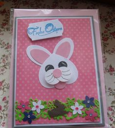 Osterkarten - Grußkarte Frohe Ostern - ein Designerstück von Wollzottel bei DaWanda