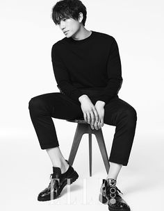 Ji Sung for Elle Korea May 2015. Photographed by Kim Young Joon