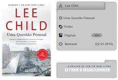 Livros e marcadores: Uma Questão Pessoal de Lee Child