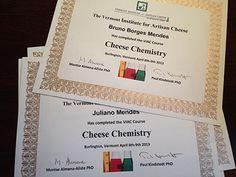Curso de Cheese Chemistry concluído! - Diário do Queijo