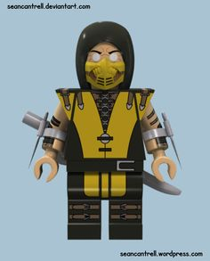 Lego Scorpion - Mortal Kombat X by seancantrell