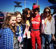 3-8-14 at Las Vegas Nationwide race. Dale & Amy with Marie Osmond.