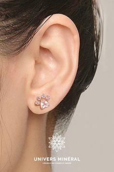 Ces boucles d'oreilles se composent de 5 cristaux de quartz sertis, en argent 925. Quartz Rose, Diamond Earrings, Jewelry, Crystals, Ears, Boucle D'oreille, Stone, Locs, Love