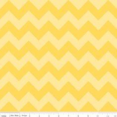 Riley Blake Designs - Chevron - Medium Chevron Tone on Tone in Yellow
