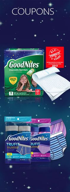 4 super coupons pour Goodnites.  http://rienquedugratuit.ca/coupons/4-super-coupons-pour-goodnites/