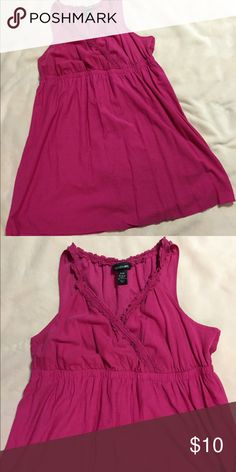 Lane Bryant Hot Pink Sundress Empire waist, hot pink dress. Very cute and super comfy to wear. Has been worn a couple times, no rips/tears and no stains. Lane Bryant Dresses Midi