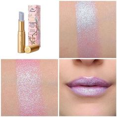 NEW! Too Faced La Creme Lipstick UNICORN TEARS Iridescent Blue/Pink Shimmer  $34.98
