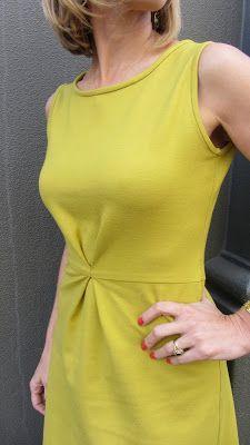 Sew Tessuti Blog - Sewing Tips & Tutorials - New Fabrics, Pattern Reviews: Sprite A-line ponti knit dress