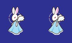 Angel Hare #rabbit #cute #vector #illustration #angel