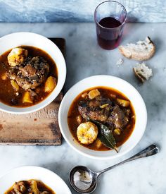 Rodney Dunn recipe for oxtail and dumpling soup.