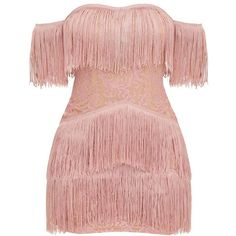 Designer Clothes, Shoes & Bags for Women Dusty Pink Dresses, Pink Bodycon Dresses, Bodycon Cocktail Dress, Pink Cocktail Dress, Tassle Dress, Fringe Dress, Dress Lace, Trendy Dresses, Short Dresses