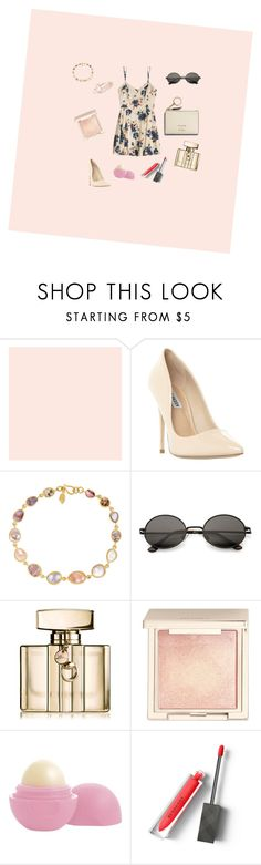 """Untitled #38"" by pinapplee ❤ liked on Polyvore featuring Farrow & Ball, Steve Madden, Pippa Small, Gucci, Jouer, Eos and Burberry"