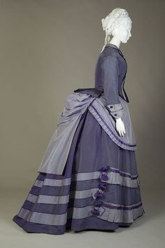 Day dress ca. 1870 From the Kent State University Museum on...