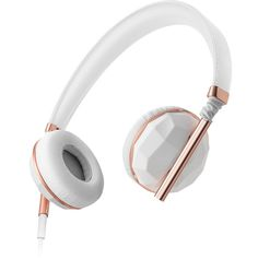 Caeden Linea On-Ear Headphone for iOS and Android - Faceted Ceramic & Rose Gold Best In Ear Headphones, Bluetooth Headphones, Leica, Pijamas Onesie, Xbox, Microsoft, Audio Design, Design Tech, Packing Tips For Travel