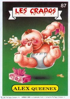 """""""Garbage Pail Kids"""" (""""Les Crados"""" in France) by Mark Newgarden and Art Spiegelman (USA ), 1985"""