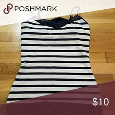 EXPRESS STRIPED CAMI! Size medium with built in bra. Great condition!! Express Tops