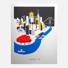 Manhattan Ltd Release11x14, $29, now featured on Fab.