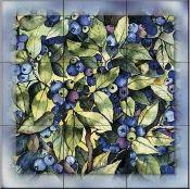 Fruits and vegetable accent tiles - KM-Blueberries - Accent Tile Tile Murals, Tile Art, Mosaic Tiles, Decorative Tile Backsplash, Kitchen Backsplash, Tumbled Marble Tile, Vegetable Design, Fruit Picture, Fruits Images