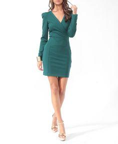 Zippered Surplice Dress $24.80