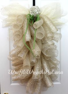A personal favorite from my Etsy shop https://www.etsy.com/listing/262255145/deco-mesh-angel-deco-mesh-wreath-summer