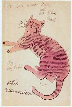 Andy Warhol 25 Cats Named Sam 1954