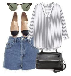 """Untitled #4053"" by style-by-rachel ❤ liked on Polyvore featuring Topshop, Monki, Chanel, Givenchy and Ray-Ban"