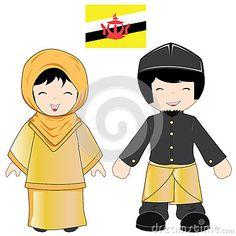 Traje tradicional de Brunei