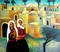 'Ramleh' by Nabil Anani, artist was born in Latroun, Palestine, Palestine Art, Palestine History, Oriental, Iranian Art, Arabic Art, Naive Art, Egyptian Art, Artist At Work, Art And Architecture