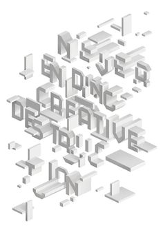 Creative Review — Typographic illustration by SAWDUST , via Behance