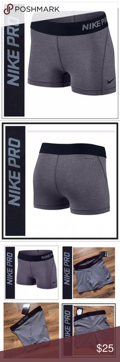 0e7152a6cd53 Nikepro Women s Pro Cool Shorts Nikepro Pro Cool Shorts New with tags  attached Excellent new Condition Size-M Color- Gray with Black waistband    logo Nike ...