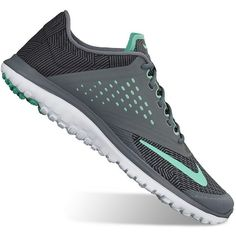 Nike FS Lite Run 2 Women's Running Shoes, Size: 8.5, Gray Mint (245 SAR) ❤ liked on Polyvore featuring shoes, athletic shoes, gray mint, lace up shoes, lightweight running shoes, nike, grey running shoes and mint green shoes