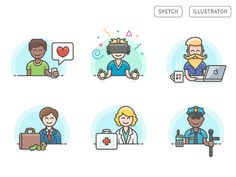 Free Download - Color Vector Characters