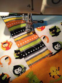 Trick or Treat Bag Tutorial Diy Halloween Trick Or Treat Bags, Halloween Diy, Coin Purse, Treats, Sewing, Fabric, Tutorials, Craft Ideas, Costume