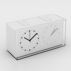 Home Away Dual Time Alarm Clock by Kit Men