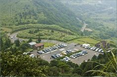 parking lot in yangming national park with mountains Parking Lot, National Parks, River, Mountains, Outdoor, Outdoors, Parking Space, Outdoor Games, The Great Outdoors