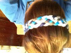 Braided under armour headband.  Could EASILY diy♥
