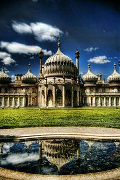 The Royal Pavilion, Brighton, East Sussex: often referred to as the Brighton Pavilion and was built by the British in the Indo-Saracenic style prevalent in India for most of the century Brighton Uk, Brighton Sussex, Mr. Darcy, Places Around The World, Around The Worlds, Europa Tour, Royal Pavilion, Places In England, England And Scotland