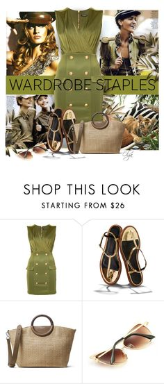 """Military Chic 1"" by olga1402 ❤ liked on Polyvore featuring Balmain, TIBI, Michael Kors, military and WardrobeStaples"