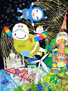 Art For Kids, Crafts For Kids, Arts And Crafts, Art Music, Cartoon, Drawings, Artist, Artwork, Blog
